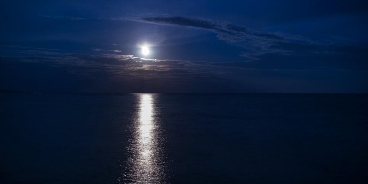 月あかりに包まれてまったりとした夜を